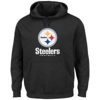 Men's Pittsburgh Steelers Black Critical Victory Pullover Hoodie