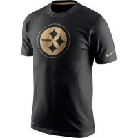 Men's Pittsburgh Steelers Nike Black Championship Drive Gold Collection Performance T-Shirt