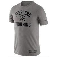 Men's Pittsburgh Steelers Nike Heathered Gray Training Performance T-Shirt