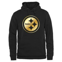 Men's Pittsburgh Steelers Pro Line Black Gold Collection Pullover Hoodie
