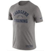 Men's San Diego Chargers Nike Heathered Gray Training Performance T-Shirt