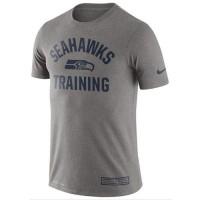 Men's Seattle Seahawks Nike Heathered Gray Training Performance T-Shirt
