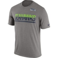 Men's Seattle Seahawks Nike Practice Legend Performance T-Shirt Grey