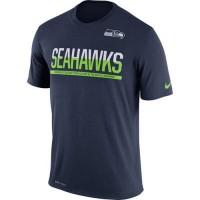 Men's Seattle Seahawks Nike Practice Legend Performance T-Shirt Navy