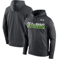 Men's Seattle Seahawks Nike Sideline Circuit Anthracite Pullover Hoodie