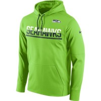 Men's Seattle Seahawks Nike Sideline Circuit Green Pullover Hoodie