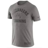 Men's Tampa Bay Buccaneers Nike Heathered Gray Training Performance T-Shirt