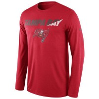 Men's Tampa Bay Buccaneers Nike Red Legend Staff Practice Long Sleeves Performance T-Shirt