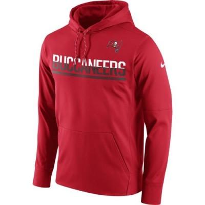 Men's Tampa Bay Buccaneers Nike Sideline Circuit Red Pullover Hoodie