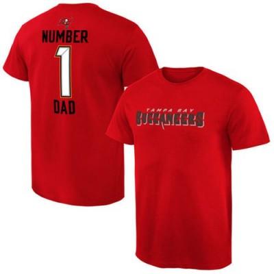 Men's Tampa Bay Buccaneers Pro Line College Number 1 Dad T-Shirt Red