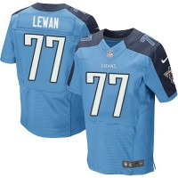 Men's Tennessee Titans #77 Taylor Lewan Light Blue Elite NFL Jersey