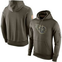 Men's Tennessee Titans Nike Olive Salute To Service KO Performance Hoodie