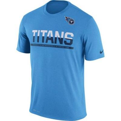 Men's Tennessee Titans Nike Practice Legend Performance T-Shirt Blue