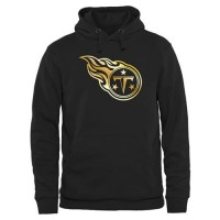 Men's Tennessee Titans Pro Line Black Gold Collection Pullover Hoodie