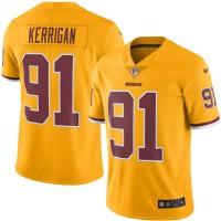 Men's Washington Redskins #91 Ryan Kerrigan Nike Gold Color Rush Limited Jersey