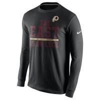 Men's Washington Redskins Nike Black 2015 NFC East Division Champions Long Sleeves T-Shirt