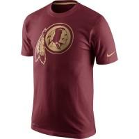 Men's Washington Redskins Nike Championship Drive Gold Collection Performance T-Shirt Burgundy