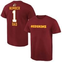 Men's Washington Redskins Pro Line College Number 1 Dad T-Shirt Red