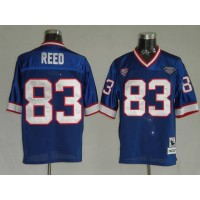 Mitchell & Ness Bills #83 Andre Reed Blue 35th Anniversary Patch Stitched Throwback NFL Jersey