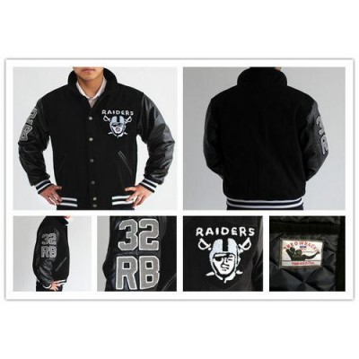 Mitchell And Ness NFL Oakland Raiders #32 Marcus Allen Authentic Wool Jacket