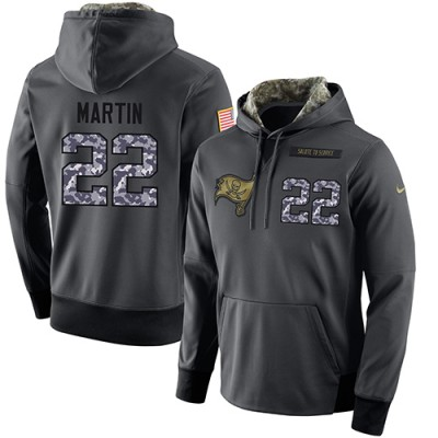 NFL Men's Nike Tampa Bay Buccaneers #22 Doug Martin Stitched Black Anthracite Salute to Service Player Performance Hoodie