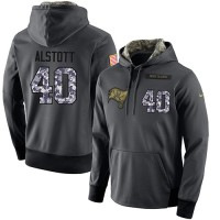 NFL Men's Nike Tampa Bay Buccaneers #40 Mike Alstott Stitched Black Anthracite Salute to Service Player Performance Hoodie