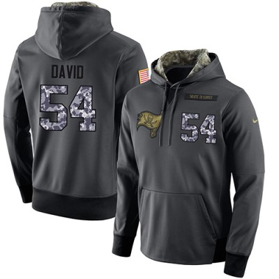 NFL Men's Nike Tampa Bay Buccaneers #54 Lavonte David Stitched Black Anthracite Salute to Service Player Performance Hoodie