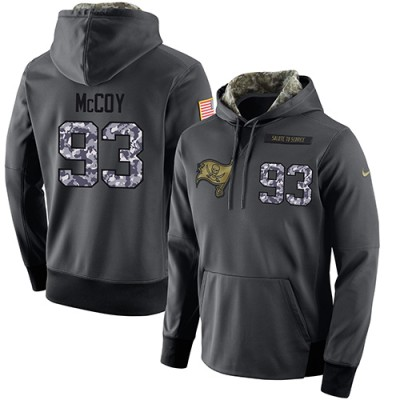 NFL Men's Nike Tampa Bay Buccaneers #93 Gerald McCoy Stitched Black Anthracite Salute to Service Player Performance Hoodie