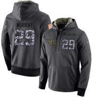 NFL Men's Nike Tennessee Titans #29 DeMarco Murray Stitched Black Anthracite Salute to Service Player Performance Hoodie