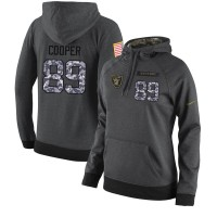 NFL Women's Nike Oakland Raiders #89 Amari Cooper Stitched Black Anthracite Salute to Service Player Performance Hoodie