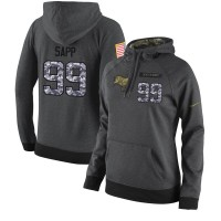 NFL Women's Nike Tampa Bay Buccaneers #99 Warren Sapp Stitched Black Anthracite Salute to Service Player Performance Hoodie