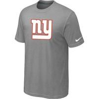 New New York Giants Sideline Legend Authentic Logo Dri-FIT Nike NFL T-Shirt Light Grey