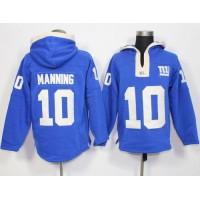 New York Giants #10 Eli Manning Royal Blue Player Winning Method Pullover NFL Hoodie