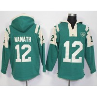 New York Jets #12 Joe Namath Green Player Winning Method Pullover NFL Hoodie