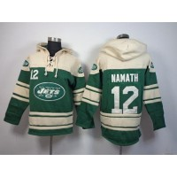 New York Jets #12 Joe Namath Green Sawyer Hooded Sweatshirt NFL Hoodie