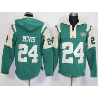 New York Jets #24 Darrelle Revis Green Player Winning Method Pullover NFL Hoodie