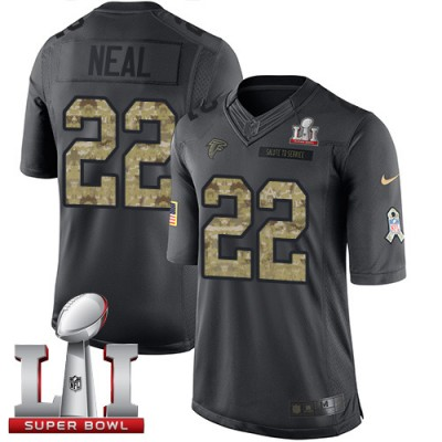 Nike Atlanta Falcons #22 Keanu Neal Black Super Bowl LI 51 Men's Stitched NFL Limited 2016 Salute To Service Jersey