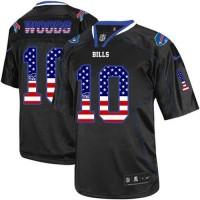 Nike Bills #10 Robert Woods Black Men's Stitched NFL Elite USA Flag Fashion Jersey