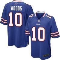 Nike Bills #10 Robert Woods Royal Blue Team Color Men's Stitched NFL Game Jersey