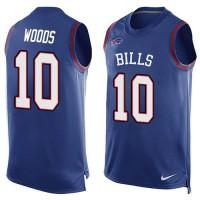 Nike Bills #10 Robert Woods Royal Blue Team Color Men's Stitched NFL Limited Tank Top Jersey