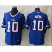 Nike Bills #10 Robert Woods Royal Blue Team Color Men's Stitched NFL New Limited Jersey