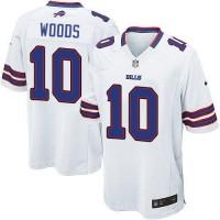 Nike Bills #10 Robert Woods White Men's Stitched NFL Game Jersey