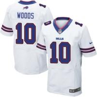 Nike Bills #10 Robert Woods White Men's Stitched NFL New Elite Jersey Jersey