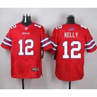 Nike Bills #12 Jim Kelly Red Men's Stitched NFL Elite Rush Jersey