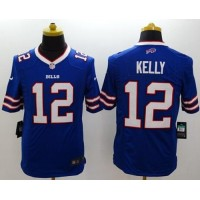 Nike Bills #12 Jim Kelly Royal Blue Team Color Men's Stitched NFL New Limited Jersey