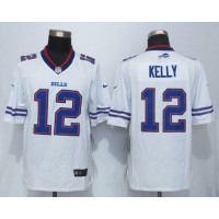 Nike Bills #12 Jim Kelly White Men's Stitched NFL Limited Jersey