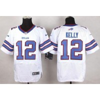 Nike Bills #12 Jim Kelly White Men's Stitched NFL New Elite Jersey