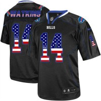 Nike Bills #14 Sammy Watkins Black Men's Stitched NFL Elite USA Flag Fashion Jersey