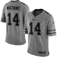 Nike Bills #14 Sammy Watkins Gray Men's Stitched NFL Limited Gridiron Gray Jersey