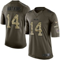 Nike Bills #14 Sammy Watkins Green Youth Stitched NFL Limited Salute to Service Jersey